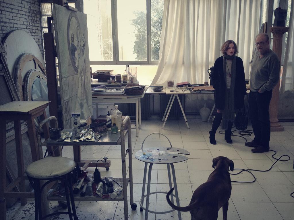 Luís Eduardo Aute, Emma Rodríguez y Duna. Estudio. – Fotografía de Nacho Goberna © 2013