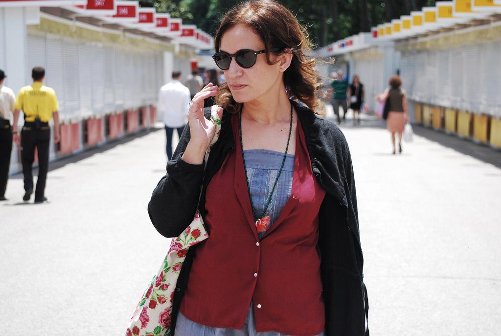 Emma Rodríguez en la Feria del libro de Madrid. Junio 2013. Por Nacho Goberna © 2013