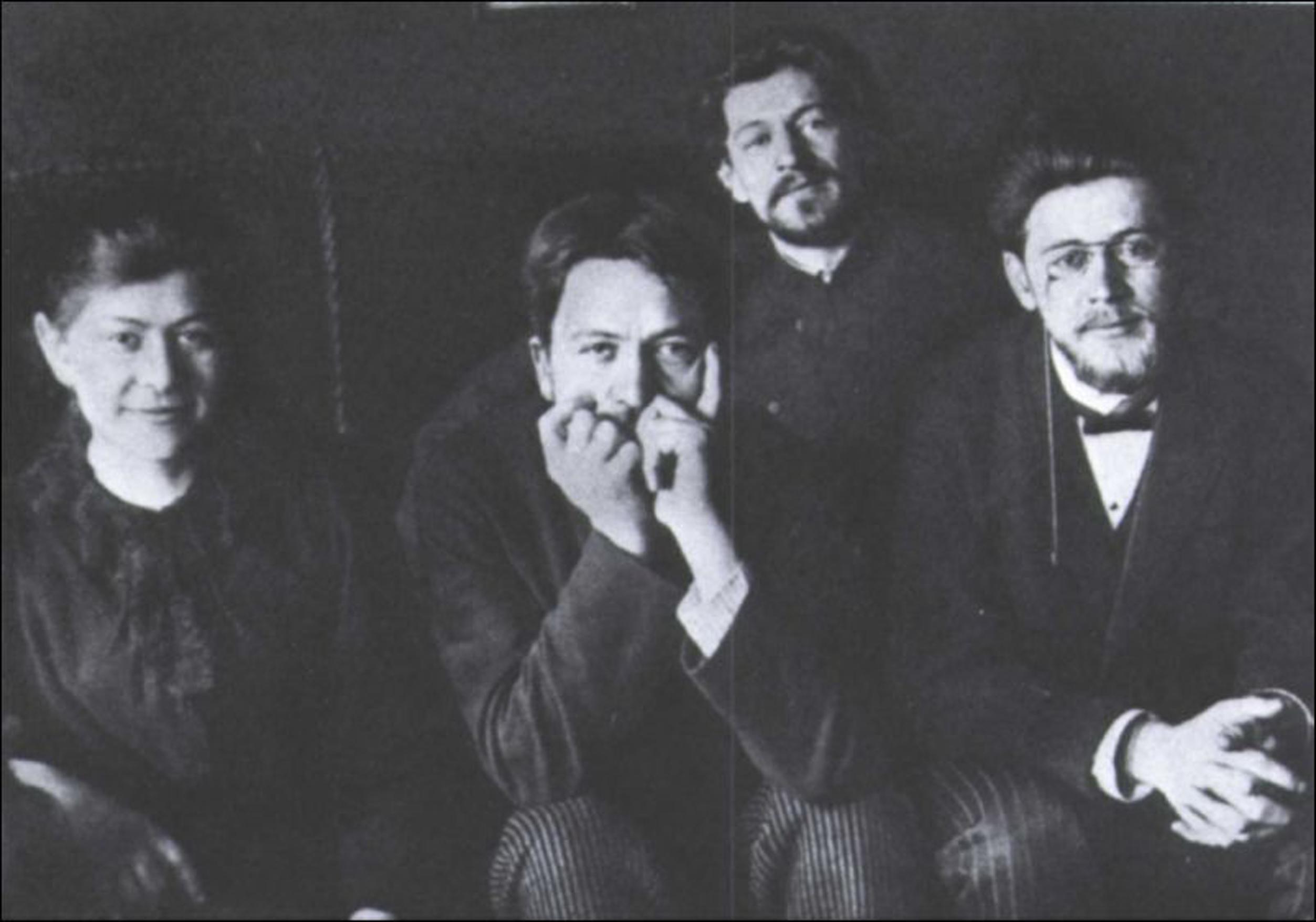 Chéjov con sus hermanos