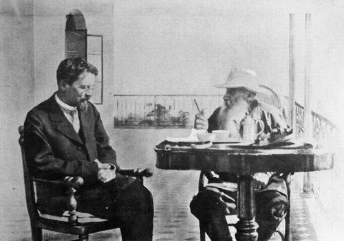 Antón Chéjov con Lev Tólstoi