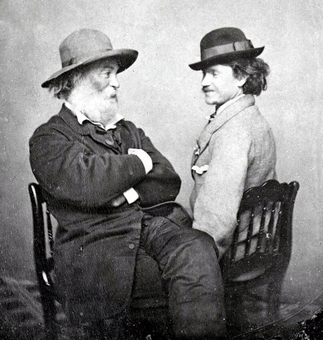 Walt Whitman y Peter Doyle, circa 1869